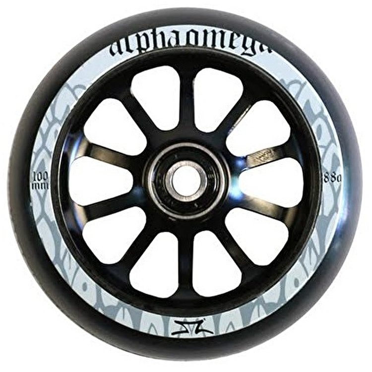 AO Delta 100mm Wheel incl Bearings - Black