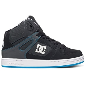 DC Rebound KB Skate Shoes - Black/White/Blue