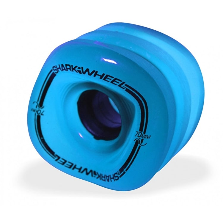 Shark Wheel Sidewinder 70mm 78a Longboard Wheels - Blue 78A (Pack of 4)