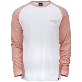Dickies Baseball Long Sleeve T Shirt - Flamingo