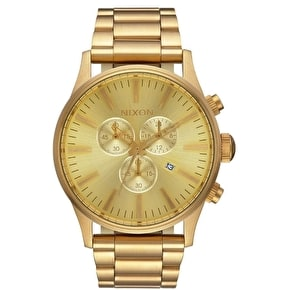Nixon Sentry Chrono Watch - All Gold