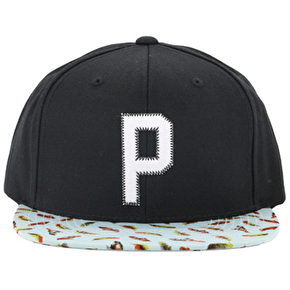 Primtive Feathers Starter Snapback Cap - Black