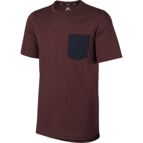Nike SB Dry Top Pocket T-Shirt - Dark Team Red/Obsidian