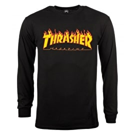 Thrasher Flame Longsleeve T-Shirt - Black