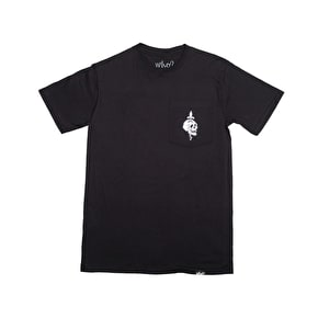 Who? Skull Pocket T-Shirt - Black