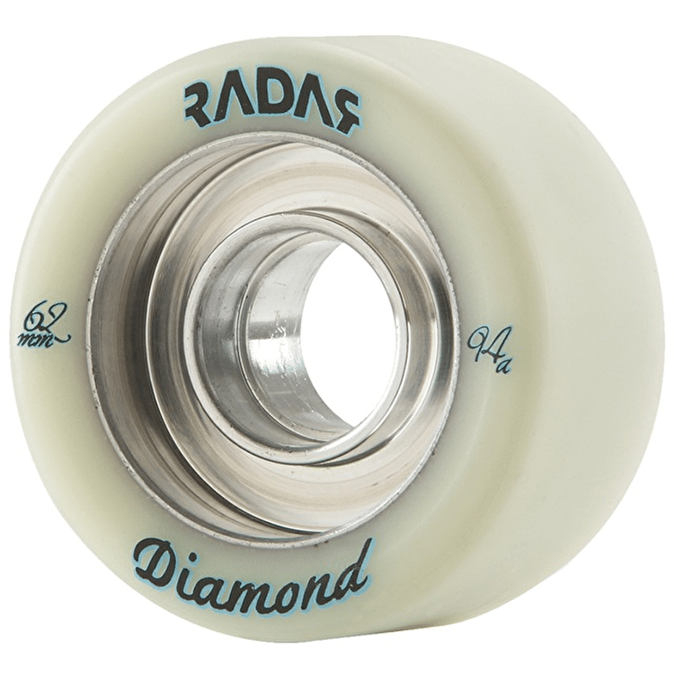 Radar Diamond 62mm Quad Derby Wheels 94A -Natural (4pk)