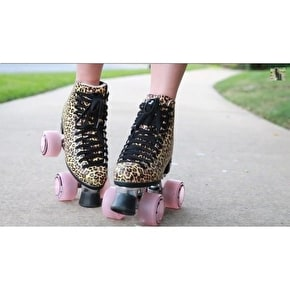 Moxi Ivy Jungle Leopard Quad Roller Skates