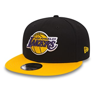 New Era 9Fifty Black Base Snapback Cap - Los Angeles Lakers