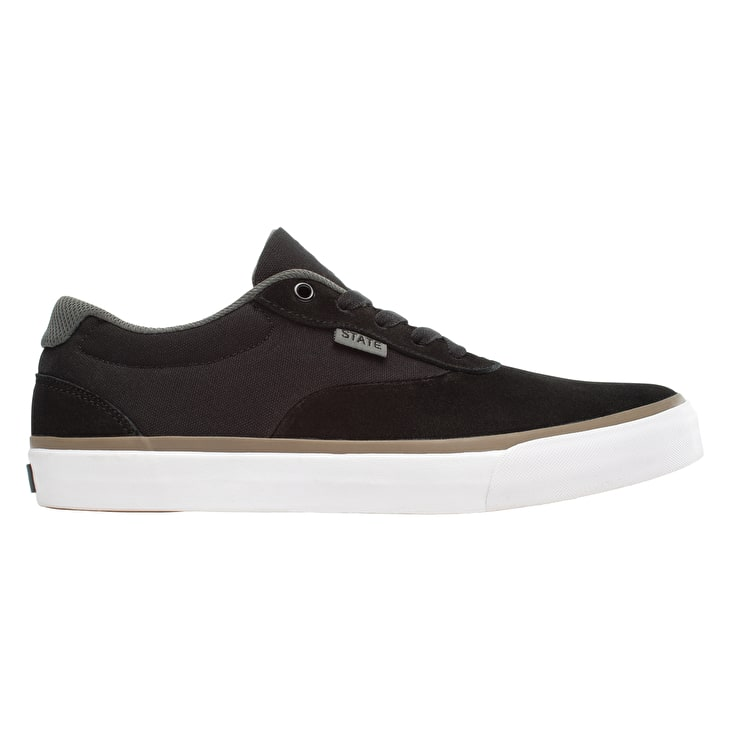 State Madison Skate Shoes - Black/Pewter