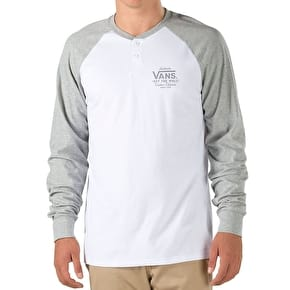 Vans Denton Raglan T-Shirt - White/Cement Heather