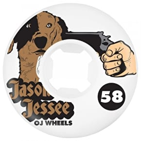 OJ Jessee Dog Revenge Insaneathane Hardline Skateboard Wheels - White 58mm 101a (Pack of 4)
