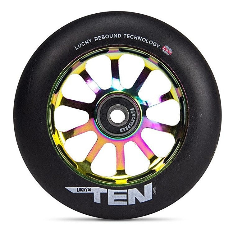 Lucky Ten 120mm Scooter Wheel - Neochrome/Black