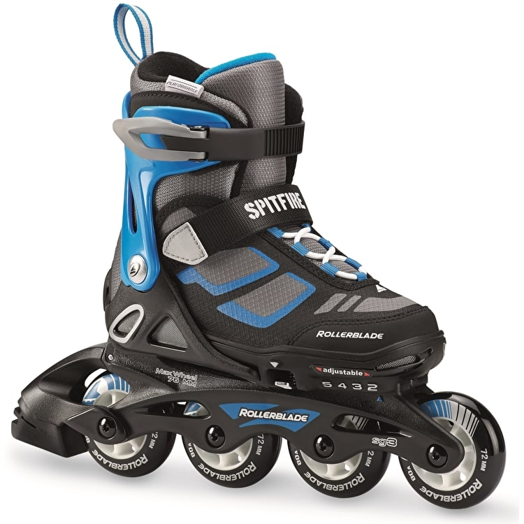 Rollerblade 2018 Spitfire Adjustable Inline Skates - Black/Blue