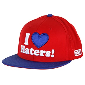 DGK Haters Snapback Cap - Red/Royal