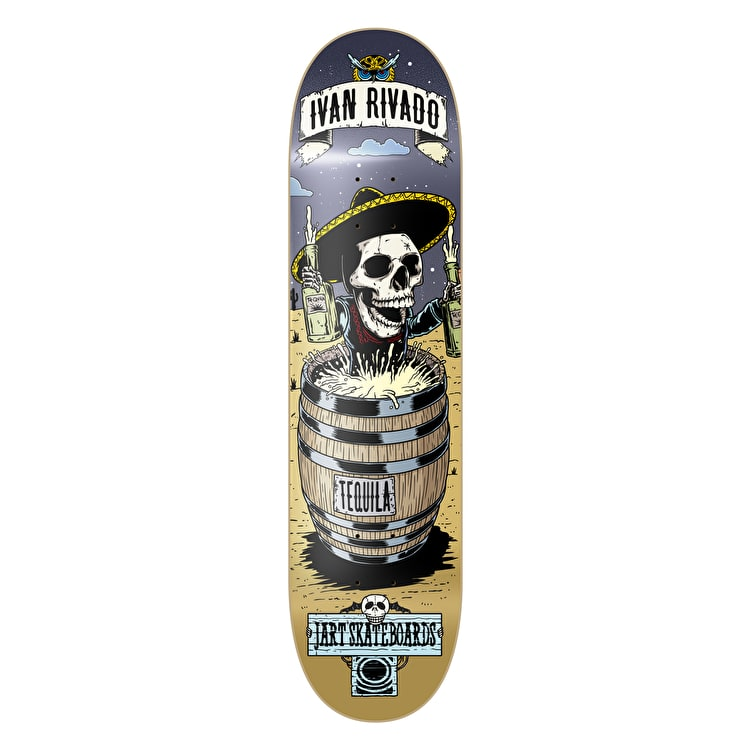 Jart Skateboard Deck - Party Rivado 7.87""