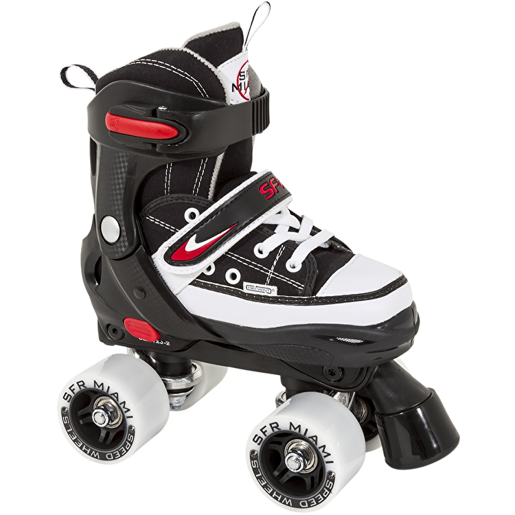 SFR Miami Adjustable Quad Roller Skates - Black / White