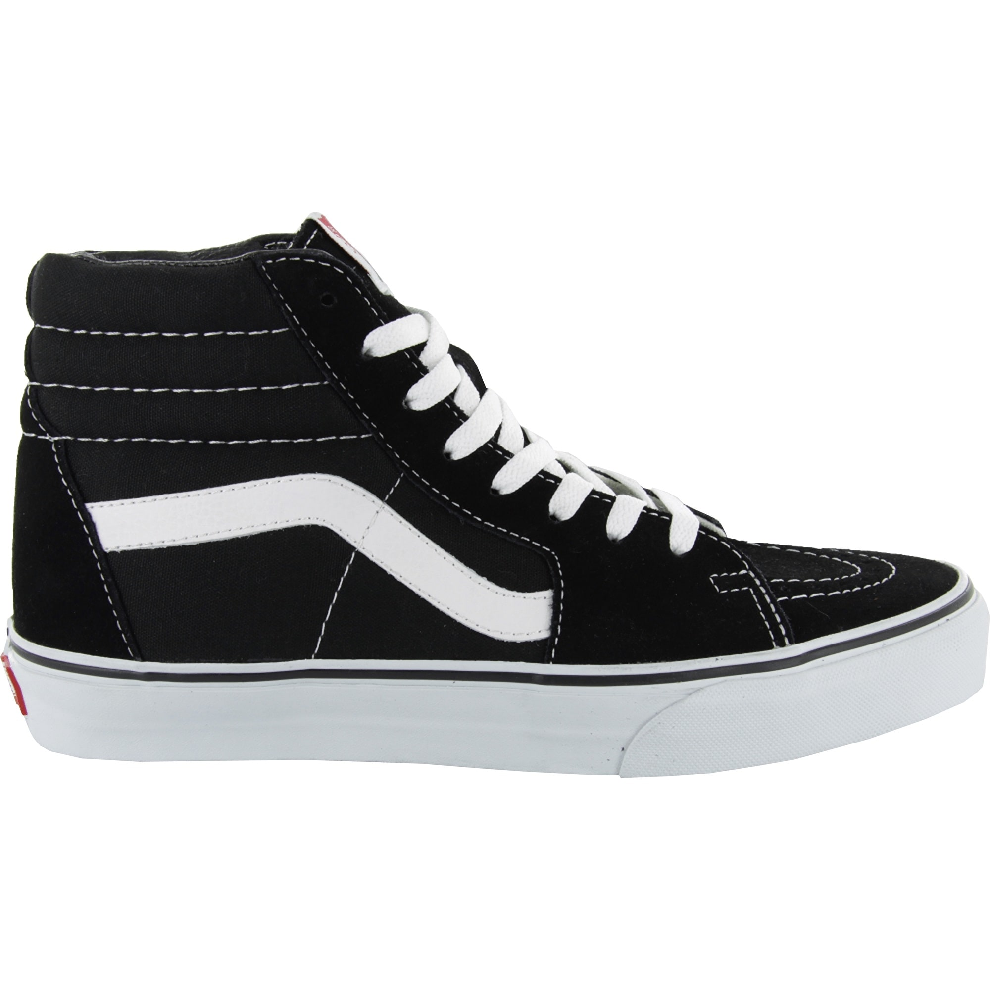 Vans Sk8 Hi Skate Shoes Black White Vans Clothing