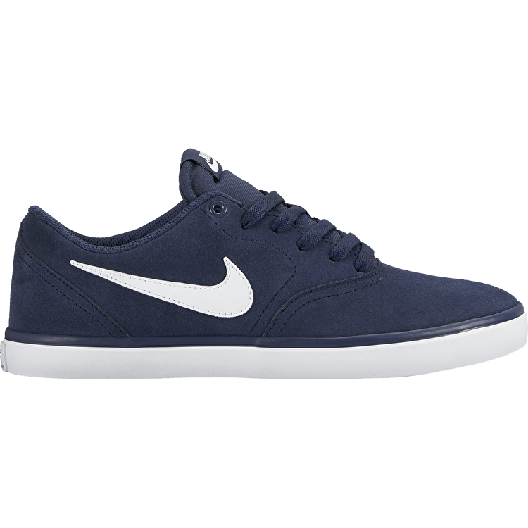 Nike SB Check Solarsoft Skate Shoes - Midnight Navy/White