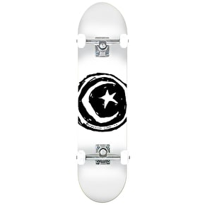 Foundation Star & Moon Complete Skateboard - White 8.25