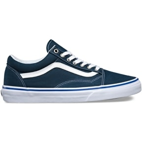 Vans Old Skool Skate Shoes - Midnight Navy/True White