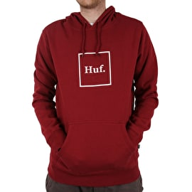 Huf Box Logo Pullover Hoodie - Terracotta