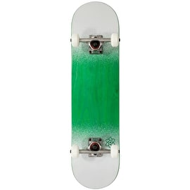 Rocket Skateboards Twin Fade Series Complete Skateboard - Green/White 7.75