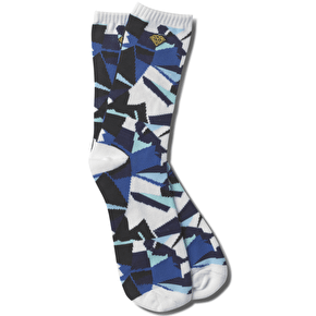 Diamond Simplicity Socks - Blue