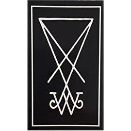 Welcome Symbol Skateboard Sticker - Black/White  5