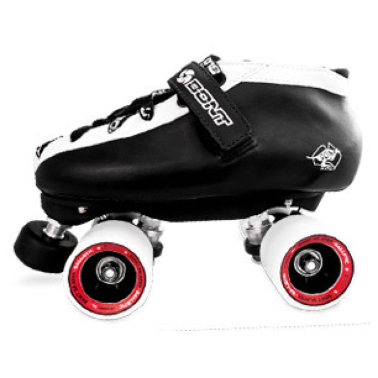 Bont Hybrid Derby Skate Package - Black / White