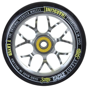 Eagle 110mm Hardline 1-Layer X6 Panther Scooter Wheel - Black/Silver