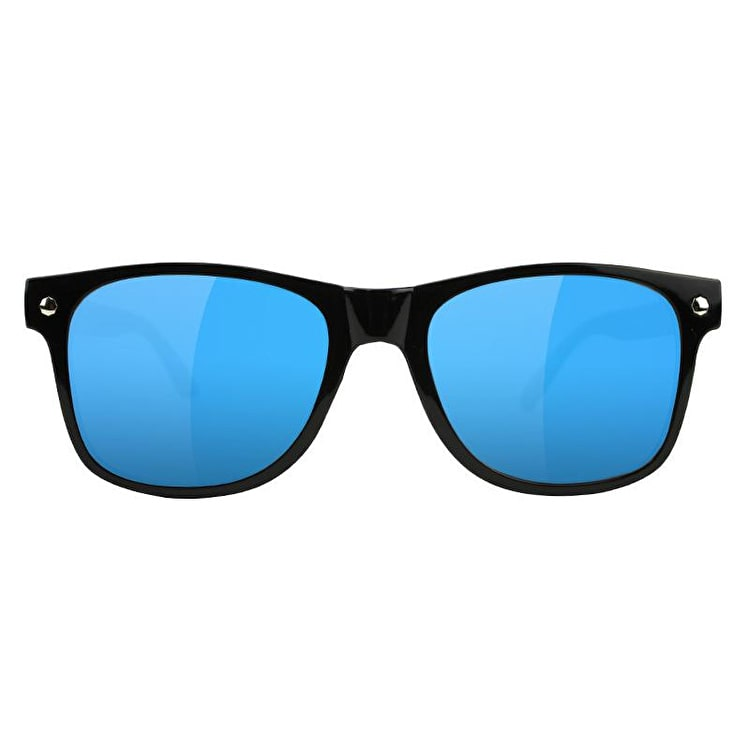Glassy Sunhaters Leonard Sunglasses - Black/Blue Mirror