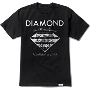 Diamond Fastening Device T-Shirt - Black