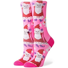 Stance Santipaws Womens Socks - Pink