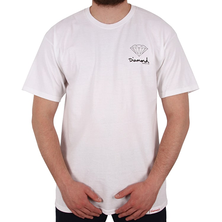 Diamond Supply Co Mini OG Sign T shirt - White