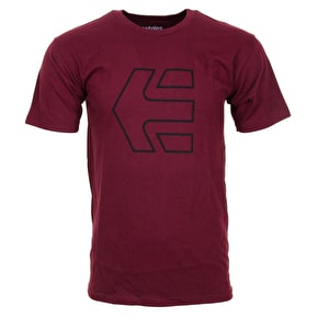 Etnies Icon Outline T-Shirt - Burgundy