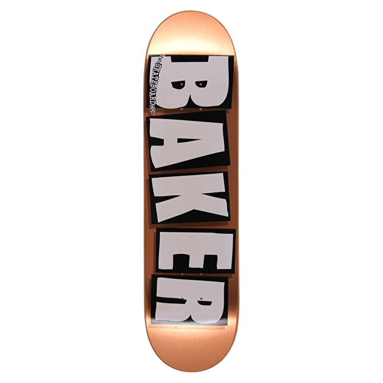 Baker Brand Name Copper Foil OG Skateboard Deck - 8.25""