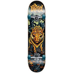 Blind Complete Skateboard - Golden Boar Blue/Orange 8
