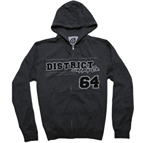 District Supply Co. Team Zip Hoodie - Athletic Heather