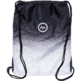 Hype Speckle Fade Drawstring Bag - Black/White