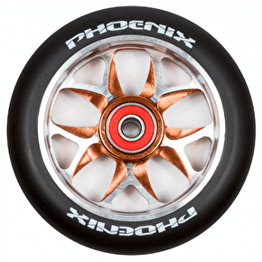 Phoenix F8 Alloy Core 110mm Scooter Wheel x 1 - Black/Bronze