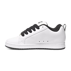 DC Court Graffik SE Shoes - White/White Print