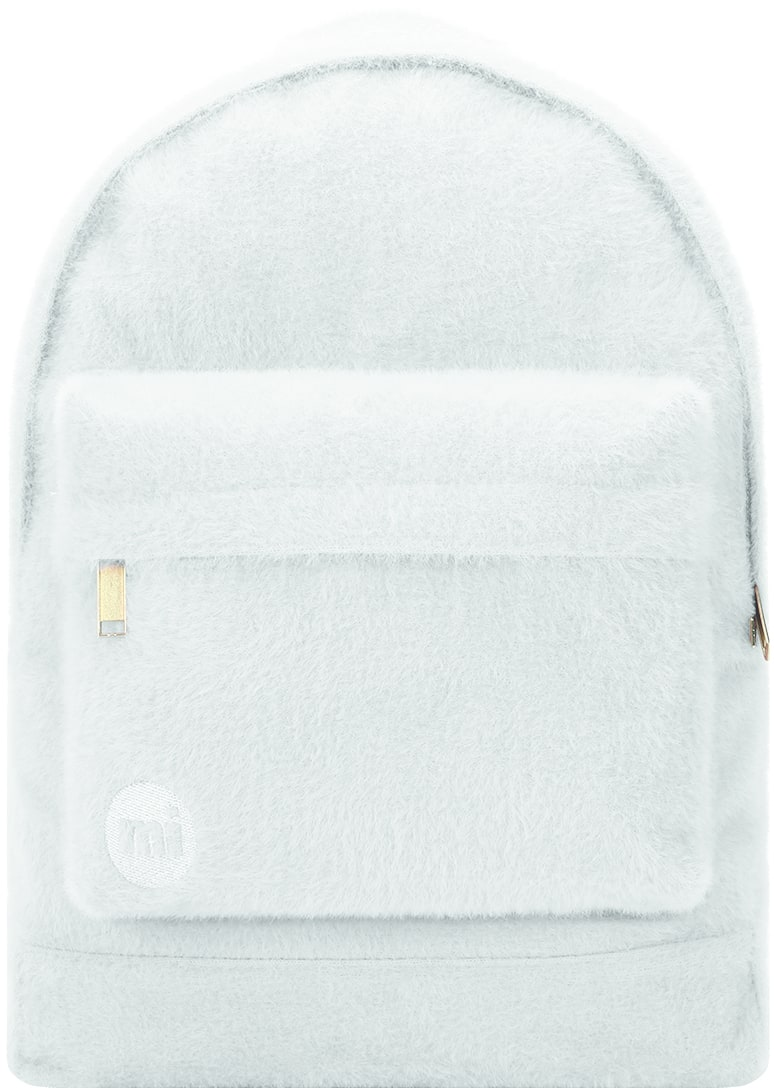 MiPac Fur Backpack  Light Grey