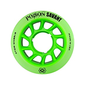 Atom Poison Savant Roller Derby Wheels - Green 59mm 84A