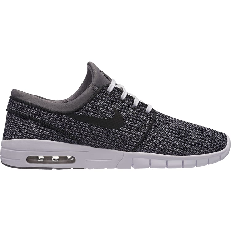 Nike Stefan Janoski Max Skate Shoes - Gunsmoke/Black/White