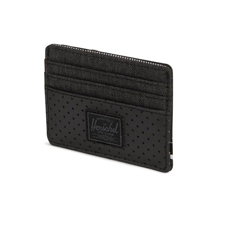 Herschel Felix RFID Wallet - Black Crosshatch/Black/White