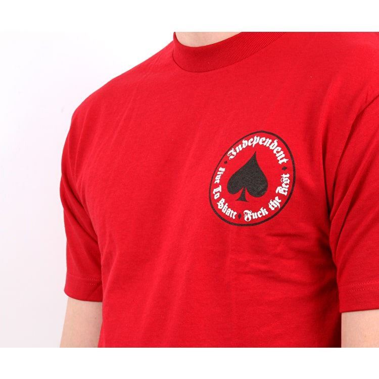 Independent x Thrasher Oath T Shirt - Cardinal Red