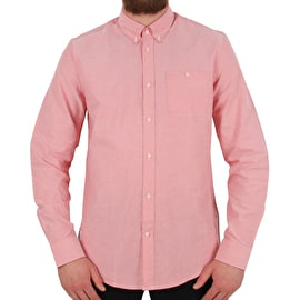 WeSC Oden Long Sleeve Shirt - Rusty Red