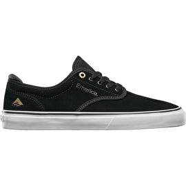 Emerica Wino G6 Skate Shoes - Black/White/Gold