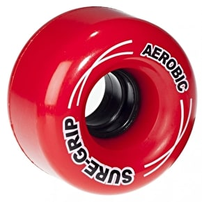 Sure-Grip Aerobic Quad Skate Wheels - Red 62mm 85A (8 Pack)