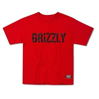 Grizzly Headlines Kids T-Shirt - Red